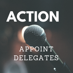 Appoint delegates Website Convention 2018